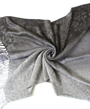 Ručne tkaný šál z hodvábu a kašmíru - vzor 03