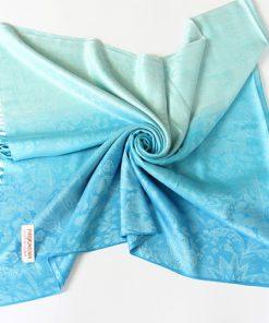 Ručne tkaný šál z hodvábu a kašmíru - vzor 09