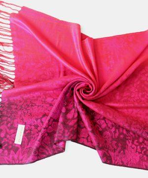 Ručne tkaný šál z hodvábu a kašmíru - vzor 04