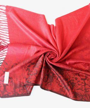 Ručne tkaný šál z hodvábu a kašmíru - vzor 05