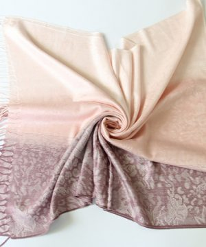 Ručne tkaný šál z hodvábu a kašmíru - vzor 08