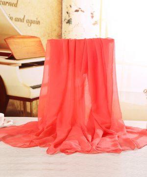 Luxusný veľký elegantný šál v tmavo červenej farbe
