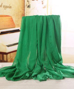 Luxusný veľký elegantný šál v svetlo zelenej farbe