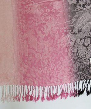 Ručne tkaný šál z hodvábu a kašmíru - vzor 11