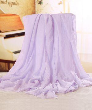 Luxusný veľký elegantný šál vo fialovej farbe