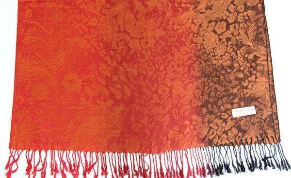 Ručne tkaný šál z hodvábu a kašmíru - vzor 06