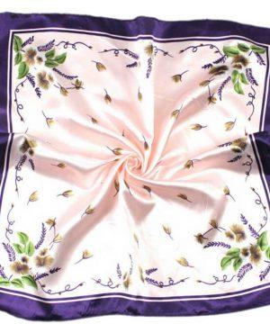 Kvalitná dámska šatka malého formátu v ružovo-fialovej farbe