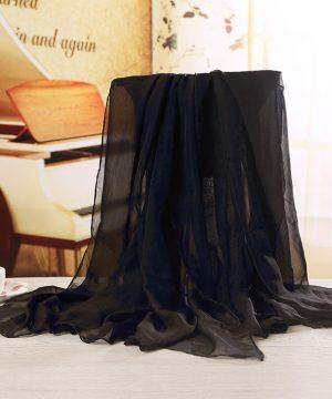 Luxusný veľký elegantný šál v tmavo modrej farbe