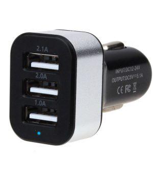 Auto-adaptér s 3 x USB portom rôzneho napätia