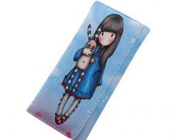 Peňaženka z kolekcie Cartoon - Girl in blue dress