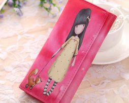 Peňaženka z kolekcie Cartoon - Girl on a walk