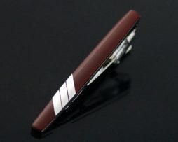 Luxusná kravatová spona značky JASON & VOGUE v hnedej farbe