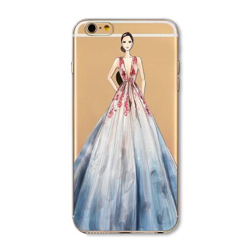 Kvalitný transparentný silikónový obal na iPhone 6/6S - beauty