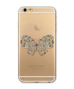 Kvalitný silikónový obal na iPhone 6plus/6Splus - butterfly