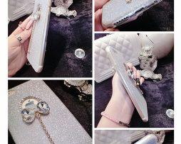 Silikónový obal so šperkom na iPhone 6 / 6S - mašľa