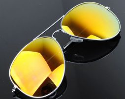 Polarizované slnečné okuliare - pilotky strieborno-zlaté