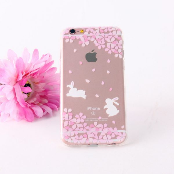 Kvalitný transparentný silikónový obal na iPhone 6/6S - rabbits
