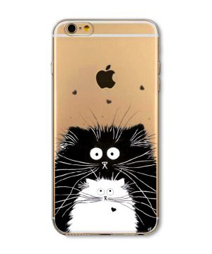 Kvalitný silikónový obal na iPhone 5/5S - cats