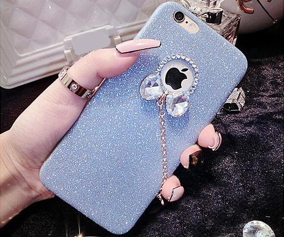 Silikónový obal so šperkom na iPhone 6 / 6S - mašľaSilikónový obal so šperkom na iPhone 6 / 6S - mašľa