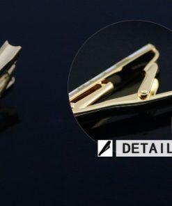 Luxusná kravatová spona značky JASON & VOGUE v zlato-čiernej farbe