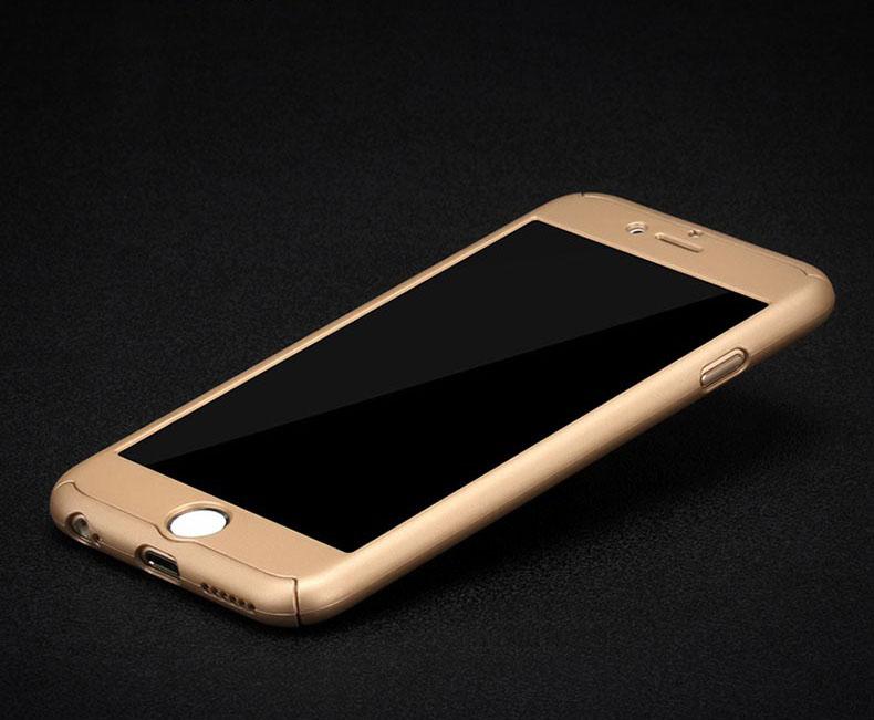 Obal z tvrdeného plastu so sklom na iPhone 6   6S vo viac farbách ... b7562da6c49