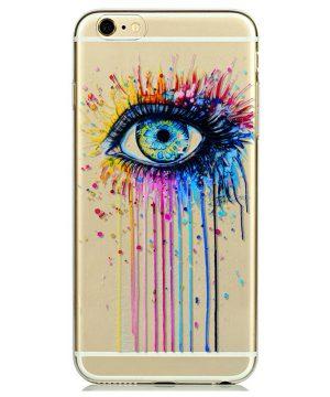Kvalitný transparentný silikónový obal na iPhone 6/6S - eye