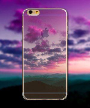 Kvalitný transparentný silikónový obal na iPhone 6/6S - scenery