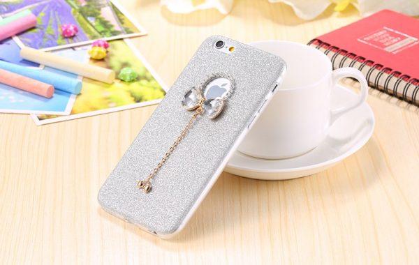 Silikónový obal so šperkom na iPhone 6 plus / 6S plus - mašľa