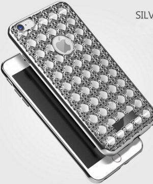 Silikónový obal so šperkom na iPhone 6 / 6S - vzor