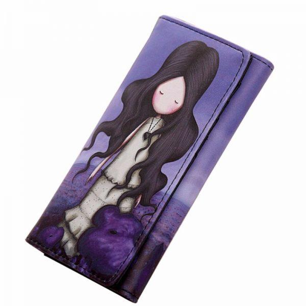 Peňaženka z kolekcie Cartoon - Violet girl