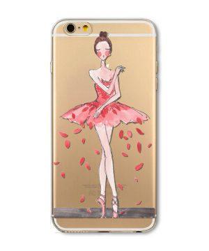 Kvalitný silikónový obal na iPhone 5/5S - ballet