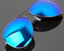 Polarizované slnečné okuliare - pilotky čierno-modré