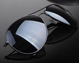Polarizované slnečné okuliare - pilotky čierne