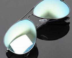 Polarizované slnečné okuliare - pilotky čierno-zelené