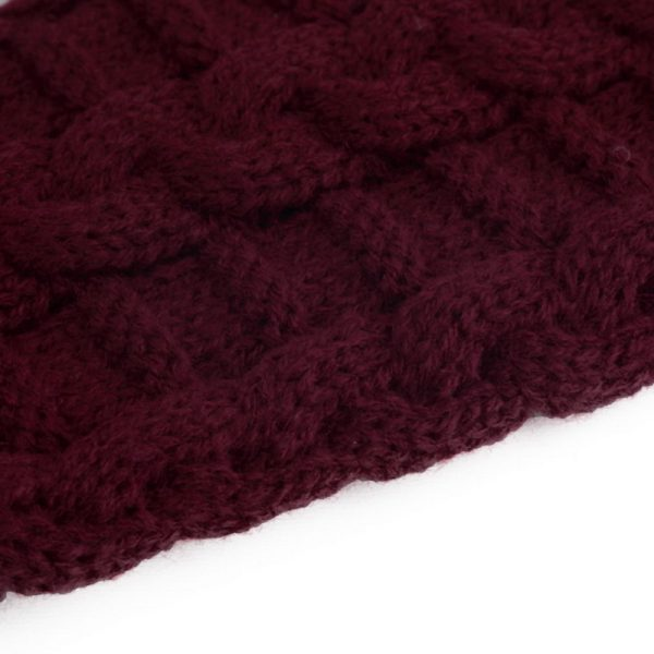 Pletené dámske rukavice z bavlny bez prstov