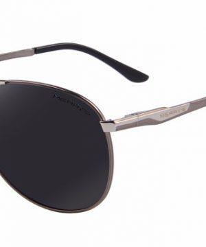 Vysoko polarizované značkové slnečné okuliare - strieborné