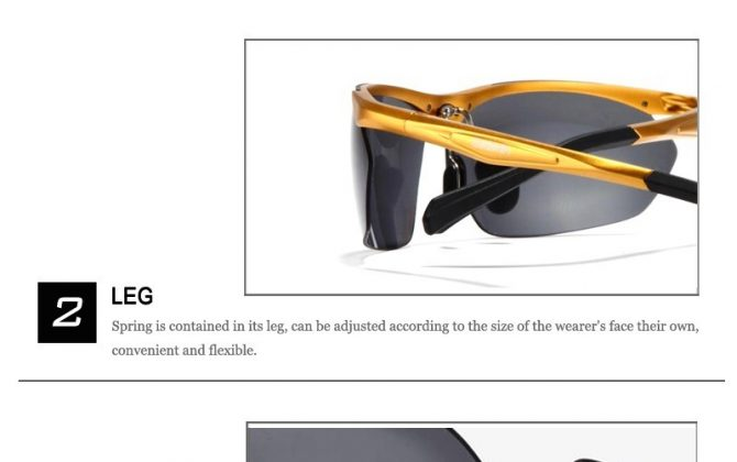 Dizajnové polarizované okuliare z odolnej zliatiny s medeným rámom