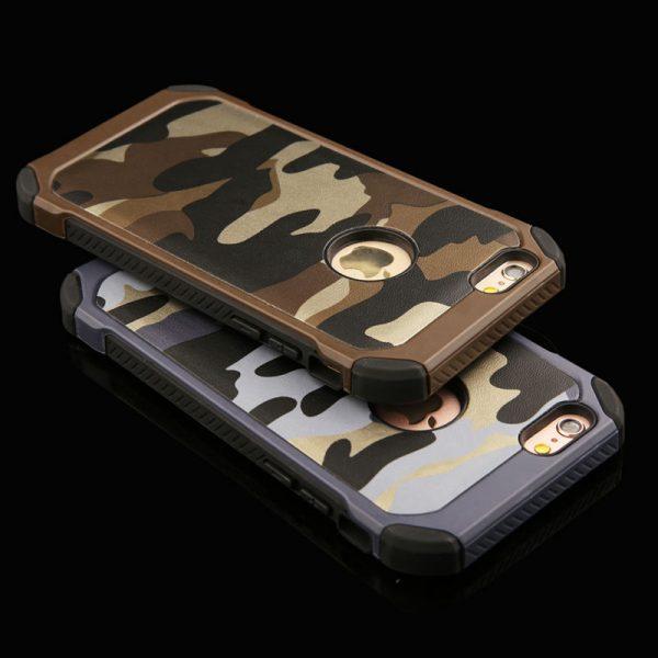 Vysoko odolný ARMY obal zo silikónu a plastu na iPhone