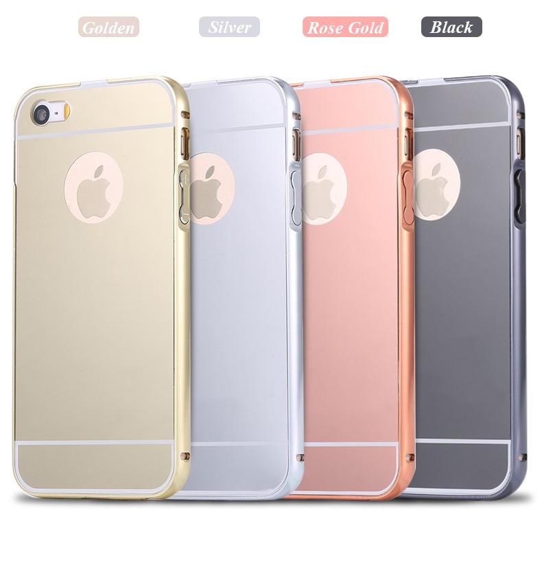 Luxusný zlatý zrkadlový obal na iPhone 5 + 5S 4275d74dfa4
