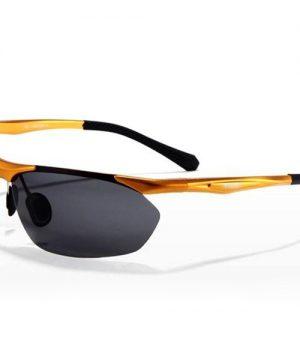 Dizajnové polarizované okuliare z odolnej zliatiny so zlatým rámom