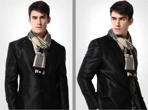 Kvalitný pánsky bavlnený šál - Vzor 17