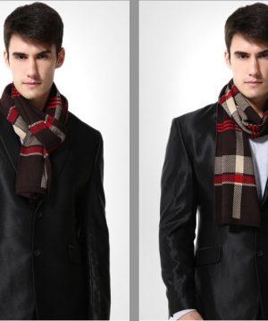 Kvalitný pánsky bavlnený šál - Vzor 06 - 180 cm x 30 cm