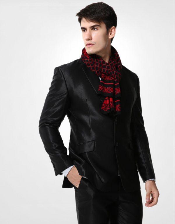 Kvalitný pánsky bavlnený šál - Vzor 12
