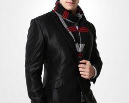 Kvalitný pánsky bavlnený šál - Vzor 07