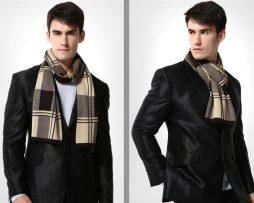 Kvalitný pánsky bavlnený šál - Vzor 16