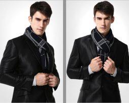 Kvalitný pánsky bavlnený šál - Vzor 15