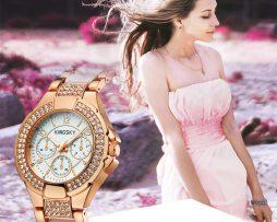 Značkové dámske hodinky s úpravou v ružovom zlate