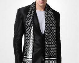 Kvalitný pánsky bavlnený šál - Vzor 13