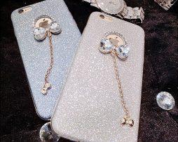 Silikónový obal so šperkom na iPhone 7 plus / 7S plus - mašľa