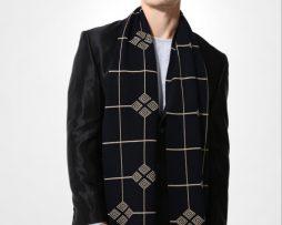 Kvalitný pánsky bavlnený šál - Vzor 08